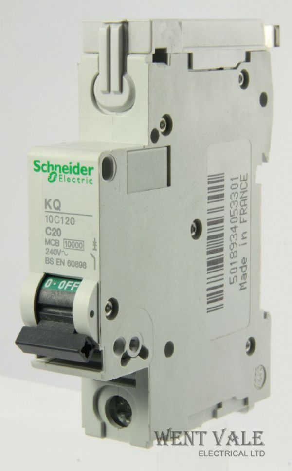 Schneider Loadcentre - KQ10C120 - 20a Type C Single Pole MCB Used